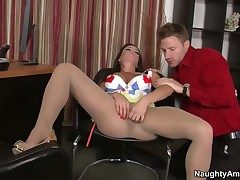 Rahyndee James takes Levi Cashs tool in her sopping gap