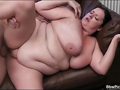 BBW blows long flannel with an increment of gets fucked