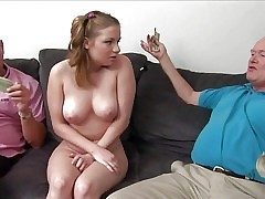 Prexy teen girl Tatiana Kush with broad in the beam on the up special strips  - Pornsharing.com exposed video