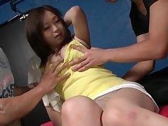 Rich brighten young Japanese bowels vacant and groped